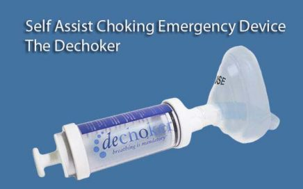 A - Self Assist Choking Emergency Device - The Dechoker